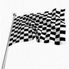 3ft*5ft Racing Checkered Flag Bright Color Fadeless Polyester Fabric Flag with Flagpole Casing