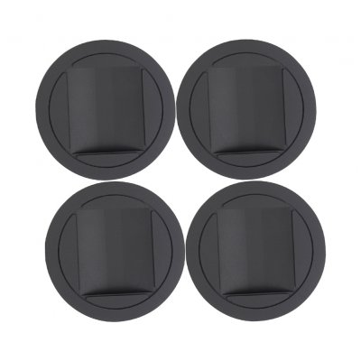 4 Pcs Piano Rubber Caster Cups Mat for Upright Grand Piano Accessories(Opp) black