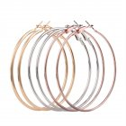 Women Big Circle Smooth Hoop Earrings
