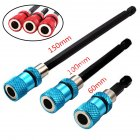 3pcs Quick Release Extension Bit Holder Extension Rod Tool for Electric Screwdriver 3pcs blue