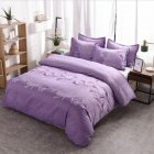 3pcs Simple  Printing Duvet  Cover Pillowcase Bedding  Sets For  Home  Hotel purple_200*230cm(US Full)