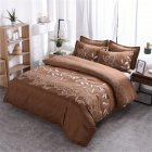 3pcs Simple  Printing Duvet  Cover Pillowcase Bedding  Sets For  Home  Hotel coffee_228*228cm(US Queen)