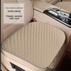 3pcs Universal Car Seat Cover PU Leather Cushions Organizer Auto Front Back Seats Covers Protector Mat  Beige single
