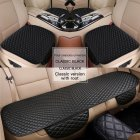 3pcs Universal Car Seat Cover PU Leather Cushions Organizer Auto Front Back Seats Covers Protector Mat  Black set