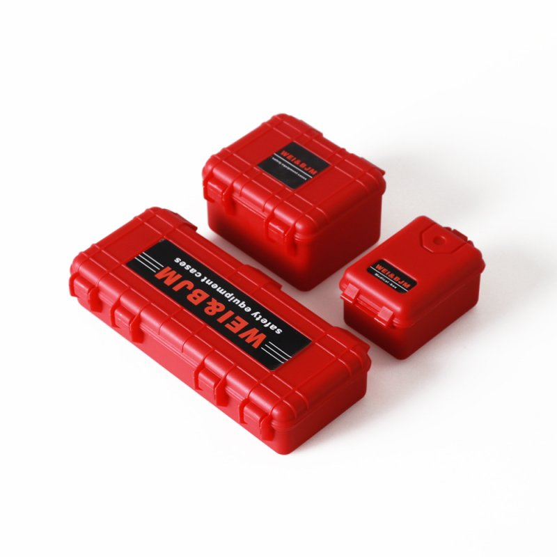 3pcs/set Storage Box Decoration Case for Traxxas TRX4 Axial red
