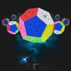 3x3 Megaminx Magic Cube Third Order Megaminx Dodecahedron Cubes Brain Teaser Puzzle Stickerless