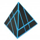 3x3x3 Magic Cube Pyramid Puzzle Speed Cube Toys For Children Gemini pyramid blue background