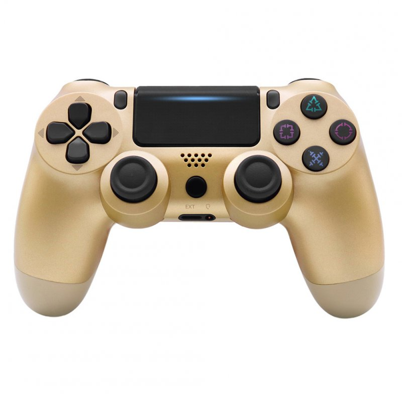 4.0 Wireless Bluetooth Controller Gamepad with Light Strip for PS4 Gold
