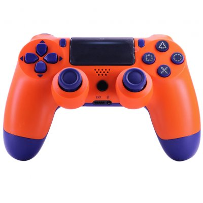 4.0 Wireless Bluetooth Controller Gamepad with Light Strip for PS4 Sunset