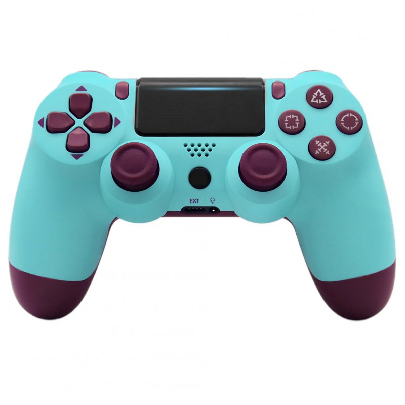 4.0 Wireless Bluetooth Controller Gamepad with Light Strip for PS4 Fruit blue
