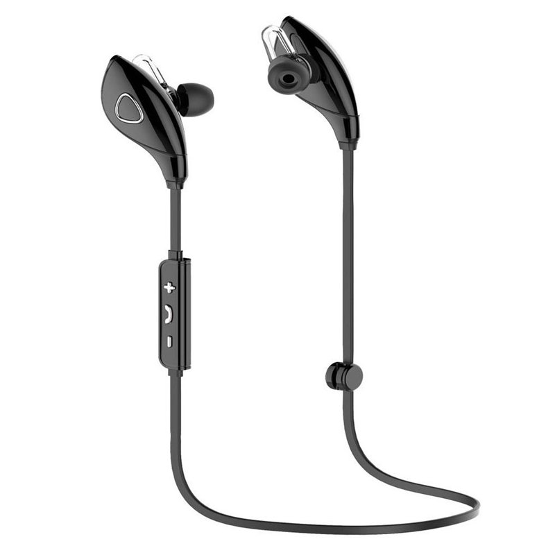 4.1 Bluetooth Earphone Earloop Earbuds Stereo Bluetooth Headset Wireless Sport Earpiece Handsfree black