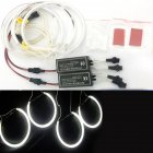 4 131mm White CCFL LED Angel Eyes Halo Rings Lighting Headlight Lamp for BMW E36 E46 E39 E38 white