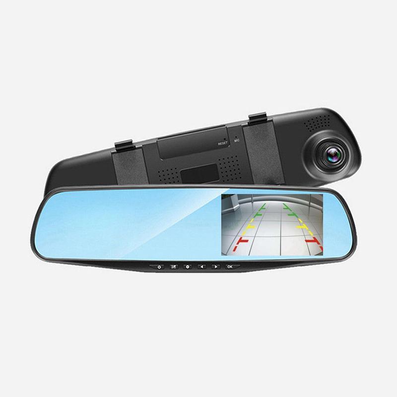 HD 1080P Dual Lens Car Auto DVR Mirror Dash Cam Recorder+Rear View Camera Kits