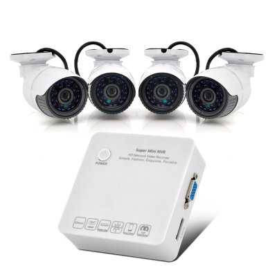 4 Channel HD Network Video Recorder System
