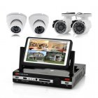 4 Channel DVR Kit has a 7 Inch LCD Screen plus two Outdoor Cameras and two Indoor Cameras as part of the package