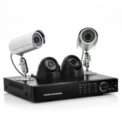 4 Channel DVR + Camera Set - Secure View
