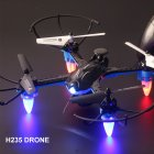 4 Channel RC Drone Mini Headless Mode Helicopter 2.4G 6-Axis Real-time Transmission Gyro Helicopter Black grid color