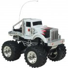 4 Channel Remote Control Rock Crawlers Bigfoot Car 1:43 Scale RC Off-road Vehicle Model Toy Gift for Kids  White