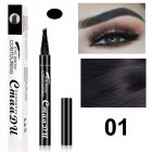 4 Fork Tip Head Eyebrow Pencil  Black 01