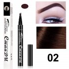 4 Fork Tip Head Eyebrow Pencil Smudge proof Long lasting Non Staining Brows Pen