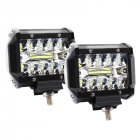 4 Inch 60W 3 Rows LED Lights Working Light Drive Off-road Lights Roof Strip Lights - 2Pcs black