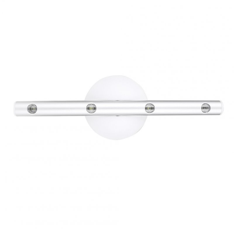 4 LED Human Induction Lamp Night Light Mirror Front Wardrobe Staircase Cabinet Lamp with Magnet white