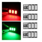4 PCS 4-6S Mini LED Light Board Red Green for RC Drone FPV Racing Frame Kit - Green