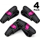 4 Packs Glasses Holders for Car Sun Visor Sunglasses Holder Clip Hanger Eyeglasses Mount Golden