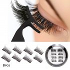 4 Pairs Magnets False Eyelashes No Glue Fake Lashes Extension Natural Reusable Handmade 001