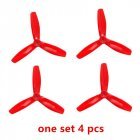 4 Pcs Propeller Blades Propellers for MJX B8PRO Drone red