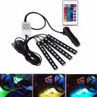 4 Piece Multicolor 36 LEDs Car Interior Atmosphere Strip Lights Car Decorative Lamp Waterproof Neon Decorative Light Car Charger