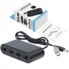 4 Port Gamecube Controller Adapter For Nintend Wii U & Switch and PC USB