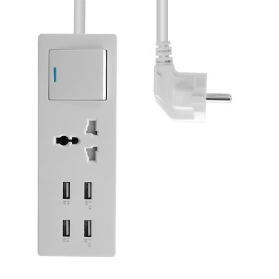 4 Port USB Wall Charger and Universal Socket