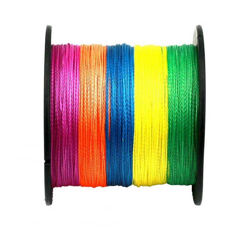 4 Strands Super Strong PE Braided Fishing Line 300M Multicolor