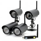 4 Wireless Cameras + USB DVR