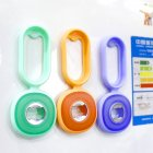 4 in 1 Bottle Opener Can Jar Opener Magnet Silicone Drinks Bottle Opener for Home green