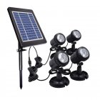 4-in-1 LED Lawn Light Solar Powered Bright Submersible Lamp Spotlight for Garden Pool Warm White_4 in 1