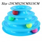 4 layer Funny Cat Crazy Ball Disk Pet Interactive Toys Amusement Plate Play Disc Turntable Cat Toy