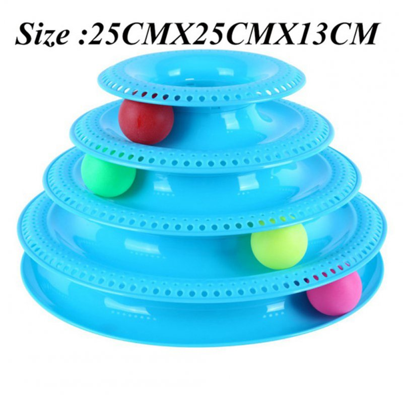 4-layer Funny Cat Crazy Ball Disk Pet Interactive Toys Amusement Plate Play Disc Turntable Cat Toy