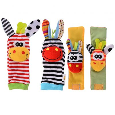 Wrist Rattles Hands Foots finders Baby Toy