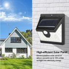 40 LEDs Solar Power Human Body Sensor Outdoor IP65 Waterproof Wall Lamp for Garden Yard Three sides 28+6+6LED three functions