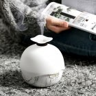 400 ML Wood Grain USB Ultrasonic LED Air Humidifier Essential Oil Aroma Diffuser Marble_ Japanese regulation