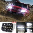 400 W 30000LM 7 inch LED Headlights 5X7/7X6 Led Beam Headlamp Led Headlight Angel Eyes for Jeep Wrangler