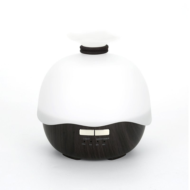 400ML Home USB Wood Grain Ultrasonic Essential Oil Aroma Diffuser Air Humidifier Dark wood grain_Korean regulations
