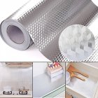 40X100CM Aluminum Foil Self Adhesive Waterproof Wallpaper DIY Home Kitchen Furniture Decorate Wallpaper