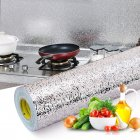 40X100CM Kitchen Oil proof Aluminum Foil Sticker Wall Desk Floor Waterproof DIY Home Furniture Decorate Foil Style Wallpaper