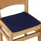 40X40CM Candy Colour Tie on Type Soft Chair Cushion Seat Pads Garden Dining Office Home Decor  Navy Blue 40X40cm