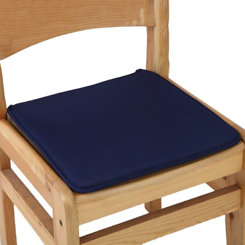 40X40CM Candy Colour Tie-on Type Soft Chair Cushion Seat Pads Garden Dining Office Home Decor  Navy Blue_40X40cm