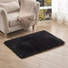 Washable Faux Sheepskin Chair Rug Black