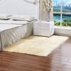 40X40CM Washable Wool Carpet - Light Yellow